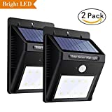 Solar Motion Sensor Security Light, FUNANASUN Lighting Wireless Waterproof Outdoor Solar Powered LED Lamp for Tree, Patio, Yard, Garden, Driveway, Stairs, Pool Area, Deck, Outside Wall (2 Pack)