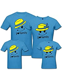 PepperClub Family Tshirt - Set of 4 For Mom Dad and Kids