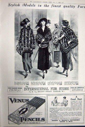 Anzeige Whisky-Pelz-Venus-Bleistift-Moore-Kakao 1922 (Bleistift Moore)