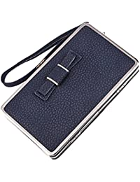Ocamo Exquisite Women Litchi Pattern Wallet Stylish Multi-Purpose Long Style Leather Clutch Handbag Bow-Knot Purse...