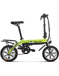 Vélo électrique Richbit pliant Vélo de ville avec 250 W * 36 V * 10.2ah longue durée Roue 35,6 cm Nouvelle mise à jour, femme Homme