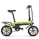 Vélo électrique Richbit pliant Vélo de ville avec 250 W * 36 V * 10.2ah longue durée Roue 35,6 cm Nouvelle mise à jour, femme Homme, Green