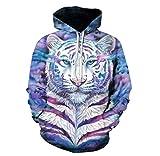 XINGMU 3D Bedrucktes Sweatshirt Hoodie Und Sweatshirt Farbiger Tiger Langärmeliges Kleid Pullover 5XL