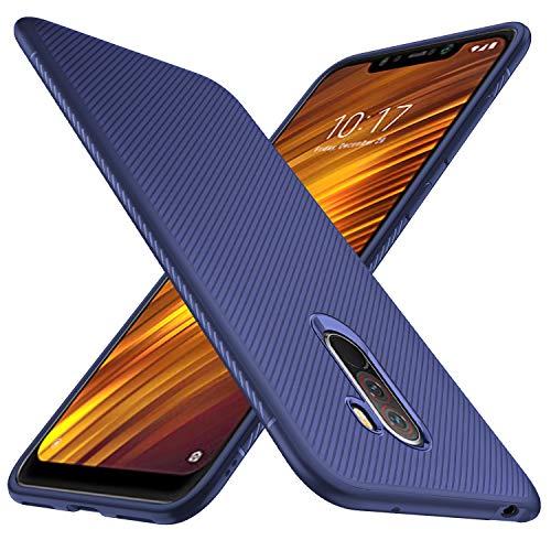 GeeMai Xiaomi Pocophone F1 Hülle, [Blau Soft Hülle] Ultra Thin Silikon Schutzhülle Tasche Soft TPU Hüllen Handyhülle für Xiaomi Pocophone F1 Smartphone