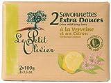 Le Petit Olivier Seife mit Zitrone Eisenkraut und Olivenöl 2 x 100 Gramm aus Frankreich