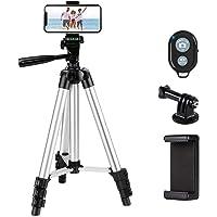 Phone Tripod,LINKCOOL 42' Aluminum Lightweight Portable Camera Tripod for Iphone…