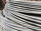 Alambre de tensión 0.6–8mm de alambre galvanizado hierro Flores Manualidades Malla 10–400metros, 3.5mm, 200 meter, 88
