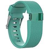 Correa de silicona Awinner de repuesto para reloj de 'fitness' Fitbit Charge HR, color Cyan