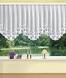 Home Fashion Bogenstore Jacquard Stoff weiß 120 x 450 cm
