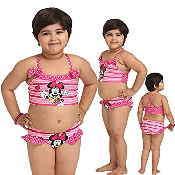 Fascinating Lingerie Girls Swim Separates (Flplkgmcccphtps001_3-4 Years _Multi Coloured _3-4 Years)