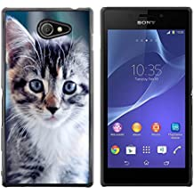 STPlus Animal bonito cachorro de gato Carcasa Funda Rigida Para Sony Xperia M2