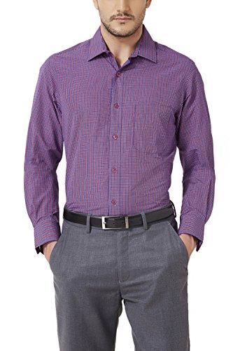 Peter England Men's Slim Fit Shirt_ Psf51501319_38_ Blue