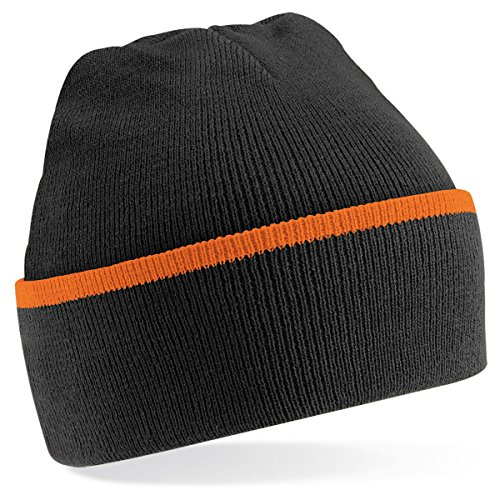 Beechfield - Bonnet - Adulte unisexe noir/orange