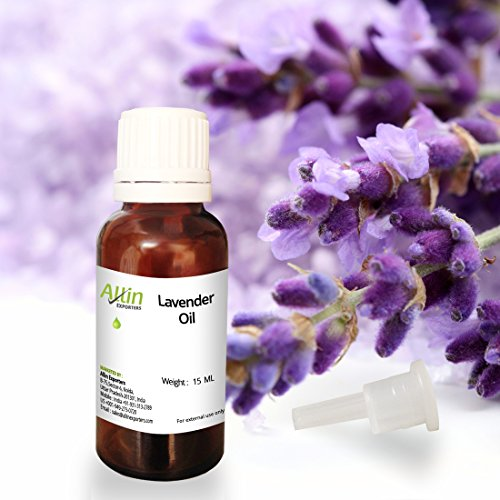 Allin Exporters Lavender Essential Oil - 15 ML - 100% Pure, Natural and Therapeutic Grade - Exceptional Choice for Aromatherapy, Massage and Aroma Diffusers - Suitable for All Skin Types - Use for Hai