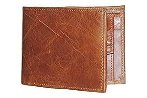 Digital Rajasthan Vintage Leather Wallets for Men (Brown)