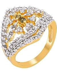 Florishkart Handmade Designs Cz & American Diamond Studded Ring Jewellery