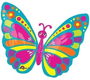 Burton y Burton Super primavera mariposa lámina/Mylar Balloon
