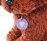 SDCXV Herz Muster Leine Zubehör Glitzer Hundemarke (lila) Für jeden Tag