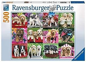 Ravensburger Puppy Pals - Puzzle de 500 Piezas para Adultos - Cada Pieza es única, tecnología Softclick Significa Que Las Piezas se Ajustan Perfectamente