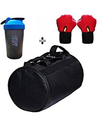 SOOPLE SPORTZ Gym Bag Combo Set Enclosed With Soft Leather Gym Bag For Men And Women For Fitness - Bag Size 49cm... - B07CSP695Z