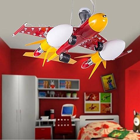 QWER Lampe de plafond suspendu Chambres Chambre enfant lampes de lumière Plafonnier avions créatifs garçons belle caricature ,58*56*93cm Lampes