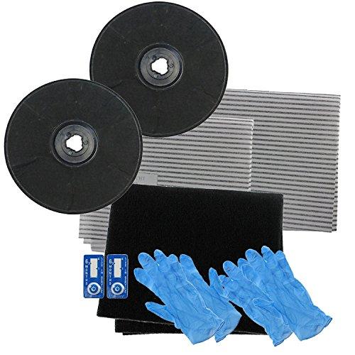 SPARES2GO EFF57tipo carbonio carbone filtri e filtro antigrasso per de dietrich cappa aspirante/Estrattore Vent (230x 20mm, confezione da 2)