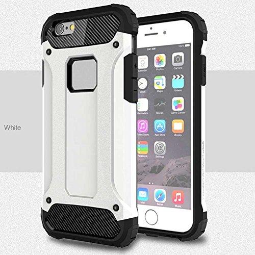 """iPhone 6S Plus Coque, AOFad iPhone 6 Plus Case Mince Protection des lourds 2-à-1 Argent TPU Avec 11 Colors Urban-Knight Accessoires Série Pour Femme Homme 5.5"""" I636 AOFad B313"""