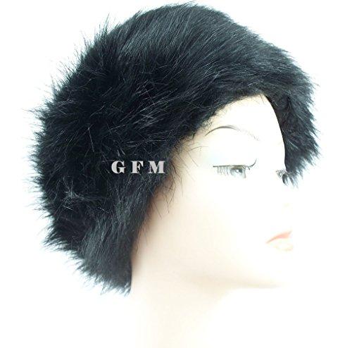 GFM Fastglas en imitation fourrure pour femme Style russe Chapeau cosaque (CZHAT) Style 1 - Black Bear (#461KL)