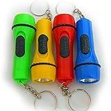 Shentian 12 x LED Lampe de Poche Porte-clés à chaîne porte-clés Petit cadeau anniversaire d'enfant