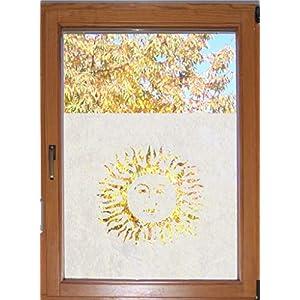 611 / 65cm hoch Sichtschutzfolie Fensterfolie Glasdekor Badezimmer Fenster Folie