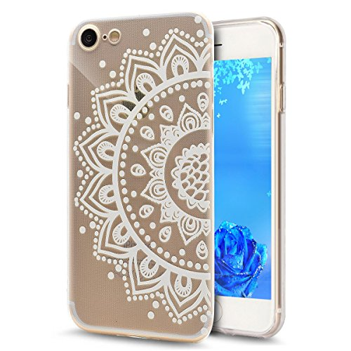 iPhone 7 Bling Coque,iPhone 7 Transparente Coque,iPhone 7 Silicone Coque,iPhone 7 Bling Diamant Cœur Etui Housse Coque,iPhone 7 Clear Coque,EMAXELERS iPhone 7 4.7 Pouce Souple Soft Gel Transparent TPU Dandelion Lover 5