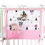 Hängender Organizer mit 9 Taschen für die Babykrippe bzw. das Kinderbett, ideal zum Aufbewahren von für Kleidung, Windeln, Spielzeug etc.