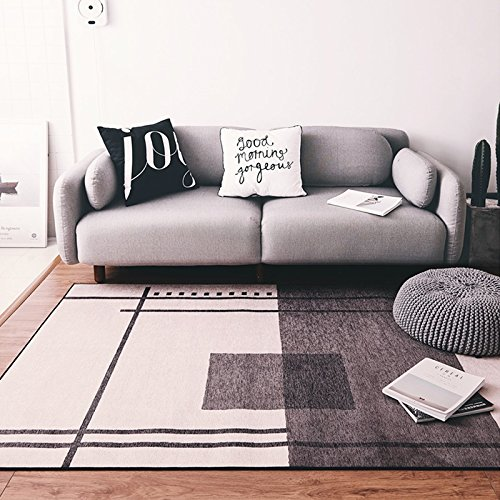 au gedruckt rechteckige Teppich, moderne minimalistische geometrische Linien, Wohnzimmer Schlafzimmer Studie Sofa Nacht weich Teppich, waschbar, Antislip, 120 * 170 cm ()