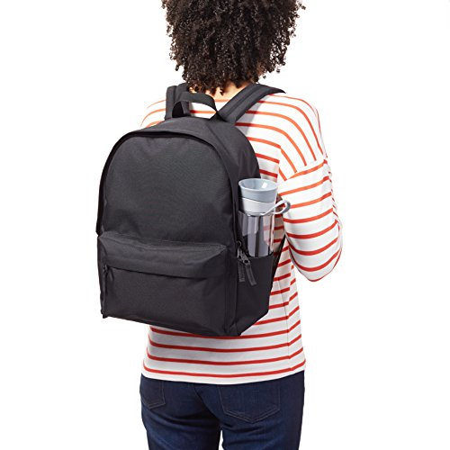 Best womens leather backpack in India 2020 AmazonBasics 21 Ltrs Classic Backpack - Black Image 8