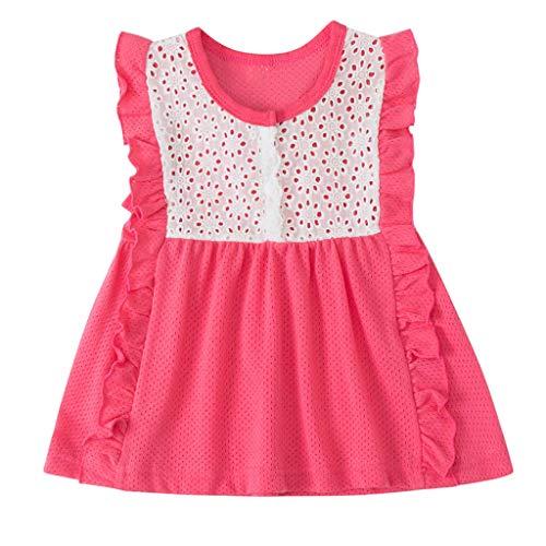 Mädchen Baby Kinder Kleinkind geraffte Patchwork Prinzessin Tüllkleid Spitzenkleid Baumwolle Party geschichteten Kleider Newborn 1. Geburtstag Baby Freizeit Sommer T-Shirt Kleid Abendkleid
