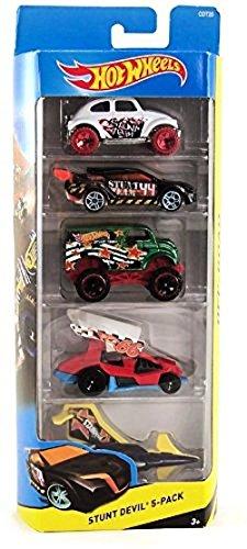 Hot Wheels - 5 Cars pack Stunt Devil
