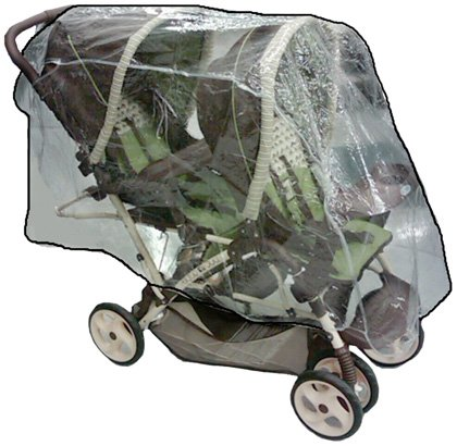 Sasha Kiddie Graco 4R Graco Duo Glider Tandem Stroller Rain and Wind Cover - Stroller Not Included