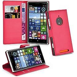 Cadorabo DE-102594 Coque pour Nokia Lumia 830 Motif Carmin Rouge