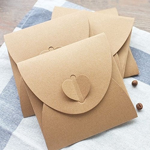 Kraftpapier Briefumschläge | 50 Stück