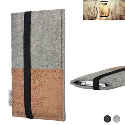 flat.design Handy Hülle Sintra für Allview X4 Soul Infinity N Handytasche Filz Tasche Schutz Kartenfach Case Kork