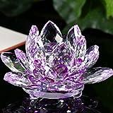 Figura de cristal Lotus Pisapapeles adorno Feng Shui Decoración Collection–bescita, Morado