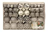 Exclusive Christmas Baubles Set with Pack of 100 Silver