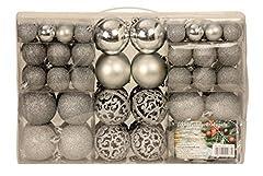 Idea Regalo - Esclusivo palline di Natale con palle di Natale Set 100 pezzi colore argento