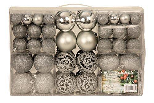 Esclusivo palline di Natale con palle di Natale Set 100 pezzi colore argento