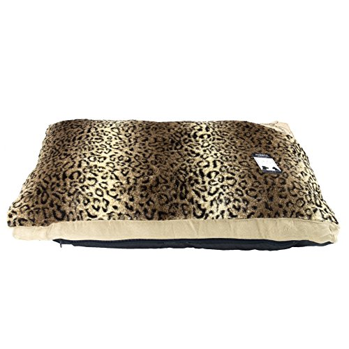 hometex-fur-dog-bed-with-removable-cover-medium-cheetah