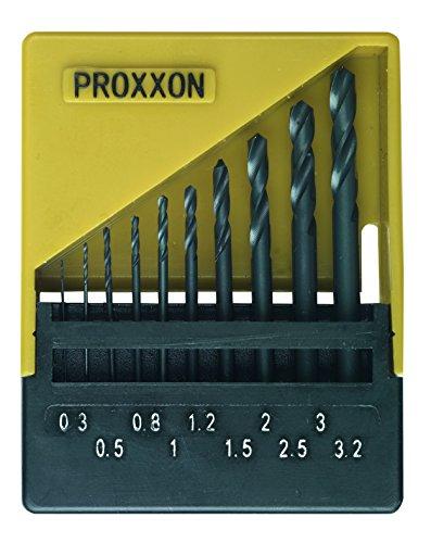 Jeu de forets pour le métal 10 pièces Proxxon Micromot 28 874 HSS 0 3 mm,  0 5 mm, 0 8 mm, 1 mm, 1 2 mm, 1 5 mm, 2 mm, 2