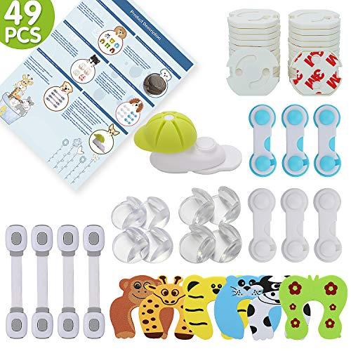 LENBEST 49 Pcs Kit Seguridad Bebés 8 Protectores