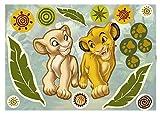 Komar - Disney - Deco-Sticker SIMBA AND NALA - 50 x 70 cm - Wandtattoo, Wandaufkleber, Wandsticker, Wandbild, König der Löwen, Löwe, Baby  - 14040h