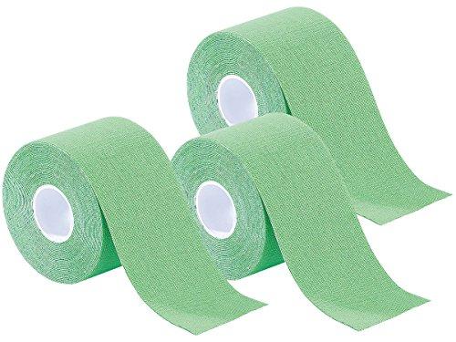 newgen medicals Lymphtapes: Kinesiologie-Tape aus Baumwollgewebe, 3er-Set, grün (Kinesiology-Verbände)