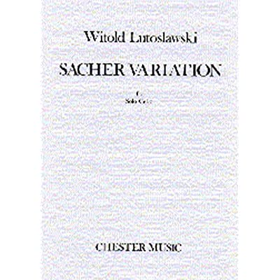 Witold Lutoslawski Sacher Variation For Solo Cello Pdf Download Alvinhugo